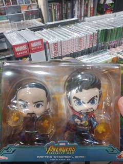 Hot toys cosbaby Infinity War Dr Strange and Wong