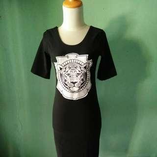Kenzo Black Bodycon Dress