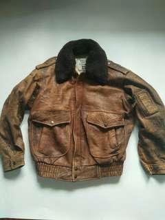 Jacket kulit pilot type g1 not ma 1 alpha industries