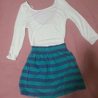 Just G Stripes Skirt