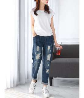 (PLUS SIZE/NORMAL PO) Ripped Jeans
