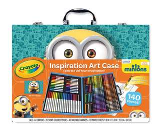 Brand New Crayola Minions Inspiration Art Case