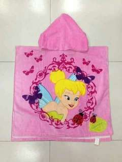 Kids Character Hooded Bath Towel - TINKERBELL