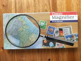 90mm Magnifier glass (brand new & sealed)