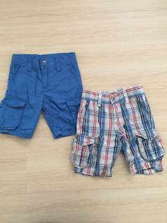 Blue Checkered Shorts Set