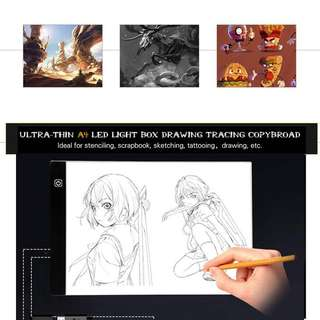 【Ready Stock】A4 LED Light Box Tracing Board Copy Pads Panel Drawing Tblet Art Stencil
