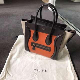 Celine handbag small micro luggage Celine box