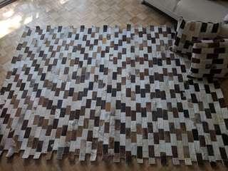 Unique cowhide rug