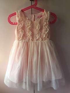 in2kids Peach Lace Dress