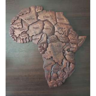 Wooden carving of Africa - from Rwanda