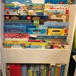 Kids wooden bookshelf 兒童實木書架