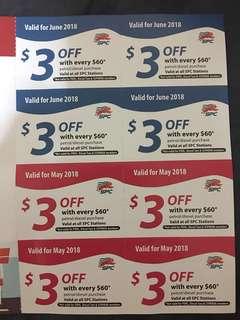 SPC Petrol coupons