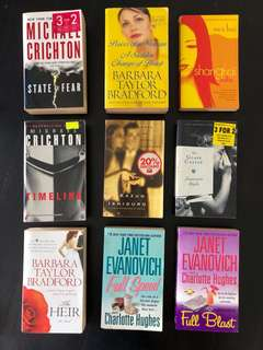 Various Used Fiction Books