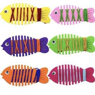 ✔️ Montessori Threading Wear Line Fish Board