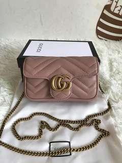 Gucci marmont flap bag super mini