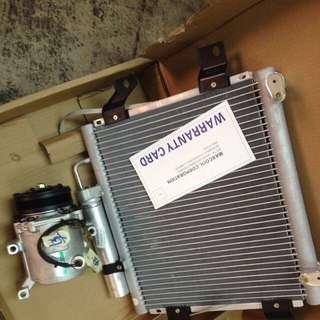 compressor dan codenser myvi 1.3