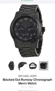 Blacked Out Runway Chronograph Men's Watch