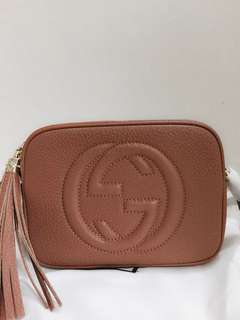 Gucci soho disco bag in taupe