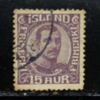 [lapyip1230] 丹麥屬土-冰島 1906年 國王 舊票 VFU