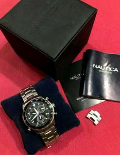 NAUTICA Stainless Steel Chronograph Watch