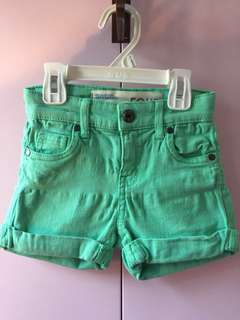 Cotton On Kids Green Denim Shorts