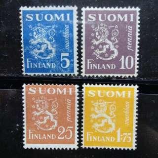 [lapyip1230] 芬蘭 1940年 國徽 新票 Mint