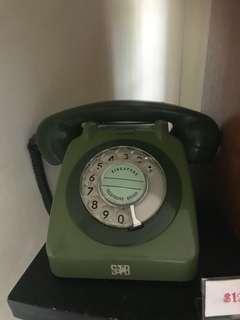 2-tone green STB rotary telephone