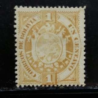 [lapyip1230] 波利維亞 1885年 國徽 新票 Mint