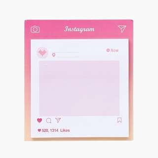 (PO) Pink Instagram Post it Memo Pad