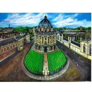 5 feet x 4 feet of canvas oil painting for Bodleian Library