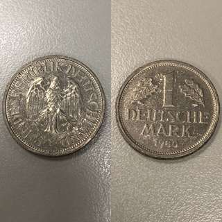 [收藏品]1馬克1980年德國deutsche mark
