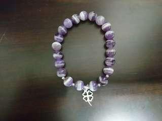 虎牙紫水晶設計款手鍊
