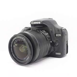 Canon EOS 500D with 18-55mm kitlens