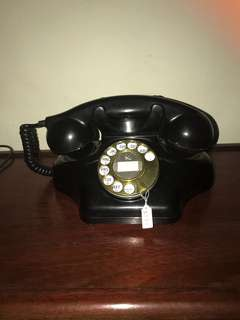 Vintage ashtray rotary telephone