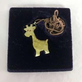 SWAROVSKI 黃色長頸鹿Necklace