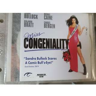 VCD - MISS CONGENIALITY (2000) action comedy sandra bullock michael caine