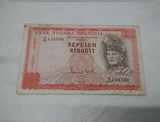 3rd Series $10 malaysia banknotes