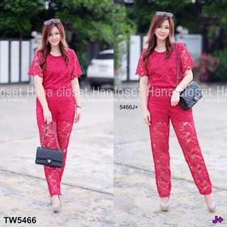 Lace jumpsuit plus size ; shop to