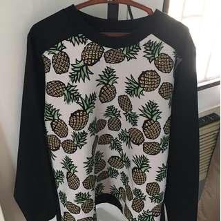 XL Pineapple Black Sweater