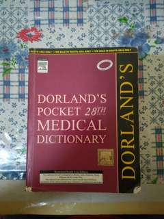 Dorland's Pocket Medical Dictionary 28th Edition