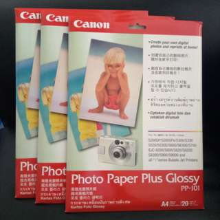 CANNON Photo Paper Plus Glossy (PP-101). Brand new, never used