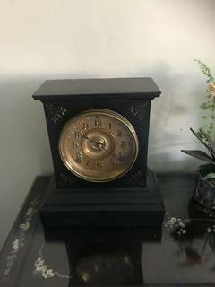Vintage Ansonia cast iron clock
