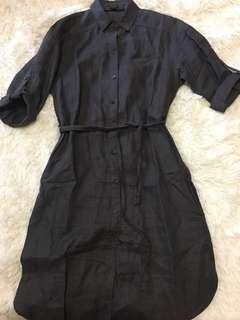 Aritzia Talula Babaton Linen Dress Shirt