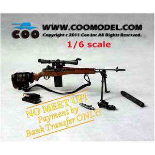 1:6 scale COO MODEL U.S. Military M14 Sniper Rifle. *NOT entitled to 15% storewide sales!