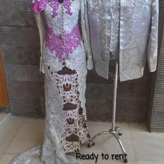 Sewa baju kebaya pengantin 1set