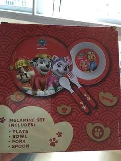 Paw patrol melamine set