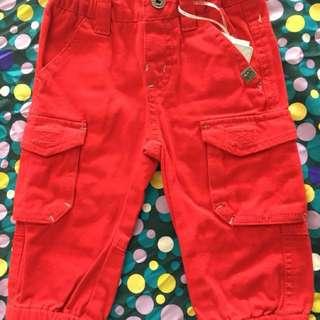 🚚 義大利童裝紅色棉褲