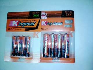 Batteries AAA and AA P13.00 in one set 4pcs batteries.