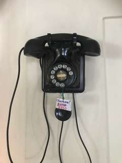 Vintage French bakelite wall phone