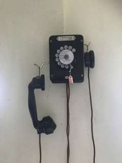 Vintage French wall telephone